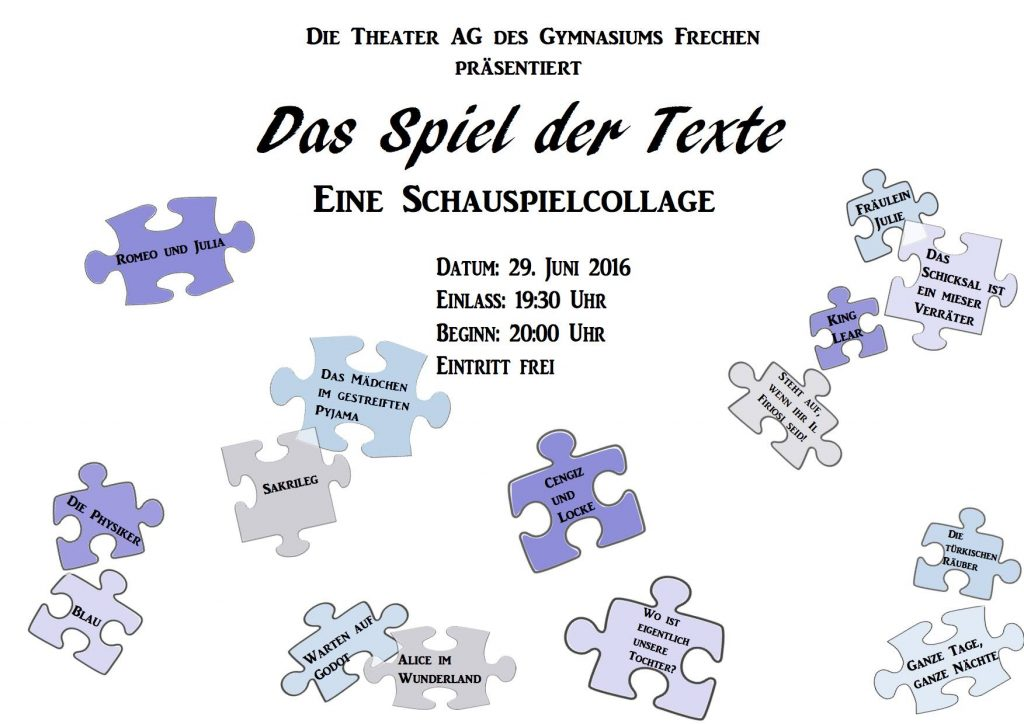 theater poster puzzel